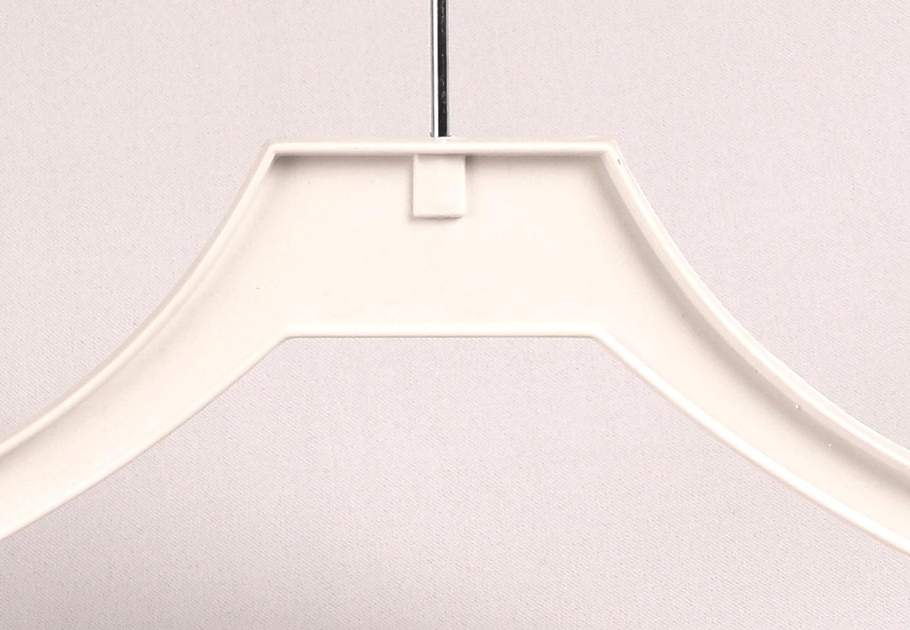Klädhängare med stång 547B 45cm vit, 20 st www galgar se