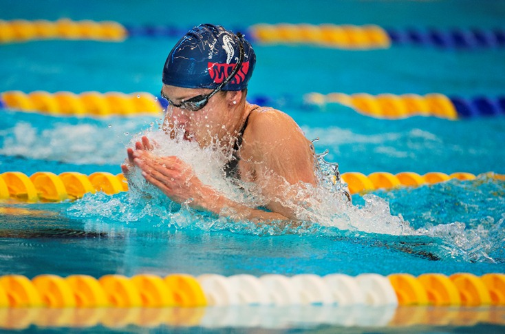 Joline Höstman vann 50/100/200m bröstsim under GP-2