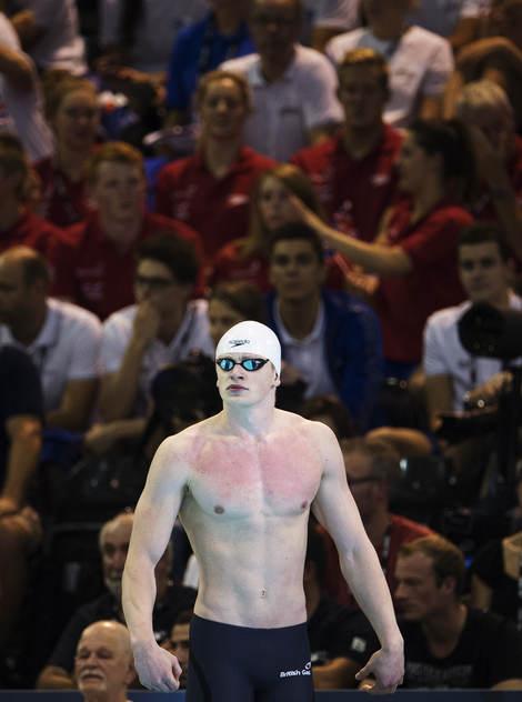 Adam Peaty vann 50m fritt.