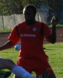 Lamin Saidy var en av Granlos målskyttar mot Alnö 2.