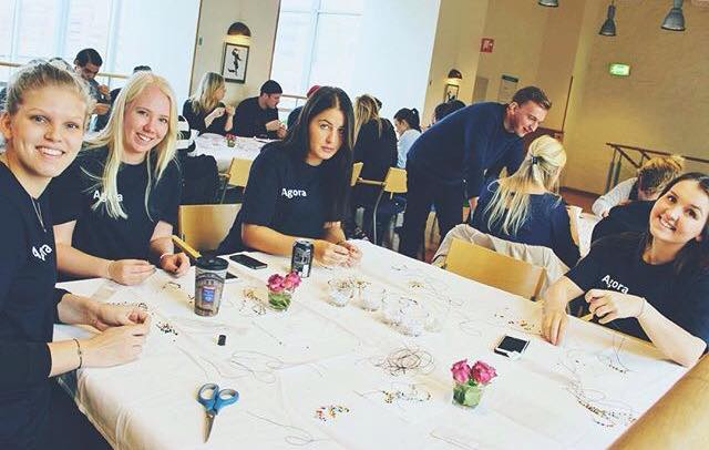 During the month of October we had an amazing collaboration with Agora a student associationn at Lunds University. They helped us make a lot of bracelets and we are so grateful!