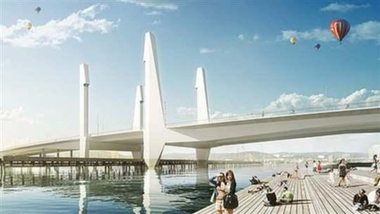 Så här är det tänkt att den nya bron skall se ut.