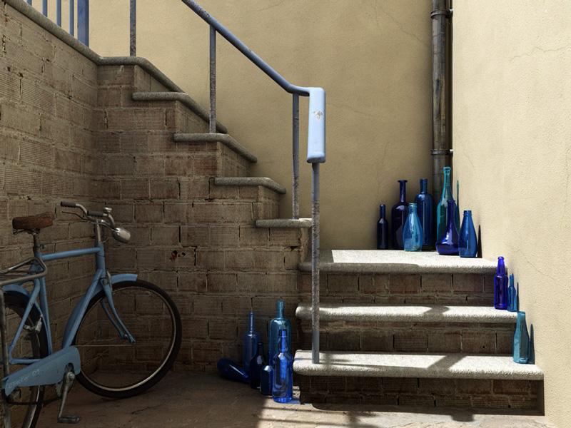 C. Decker / Bottle Collector / Digital Art 3D