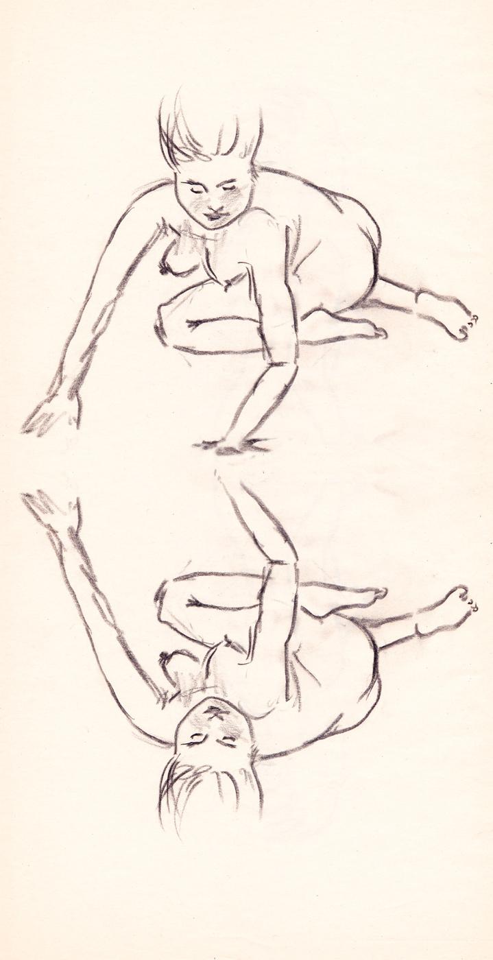 Teckning i blyerts (x2)