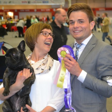 Happy winners! Malwa together with her owner Lotta Stenström
