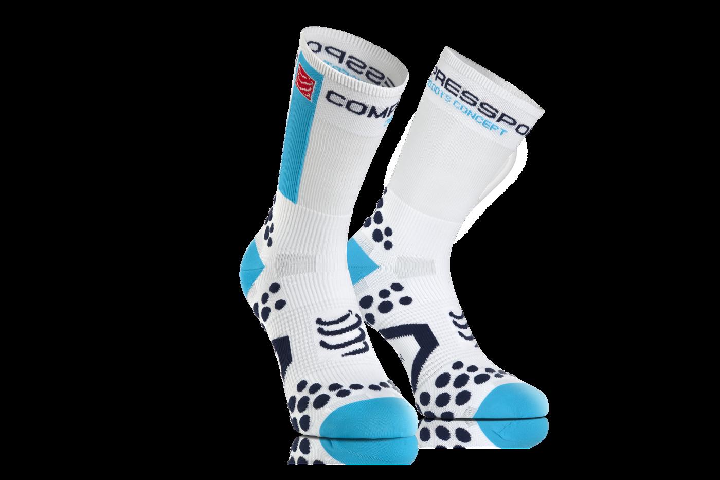 ProRacing Socks V2_1-BIKE-White-Blue