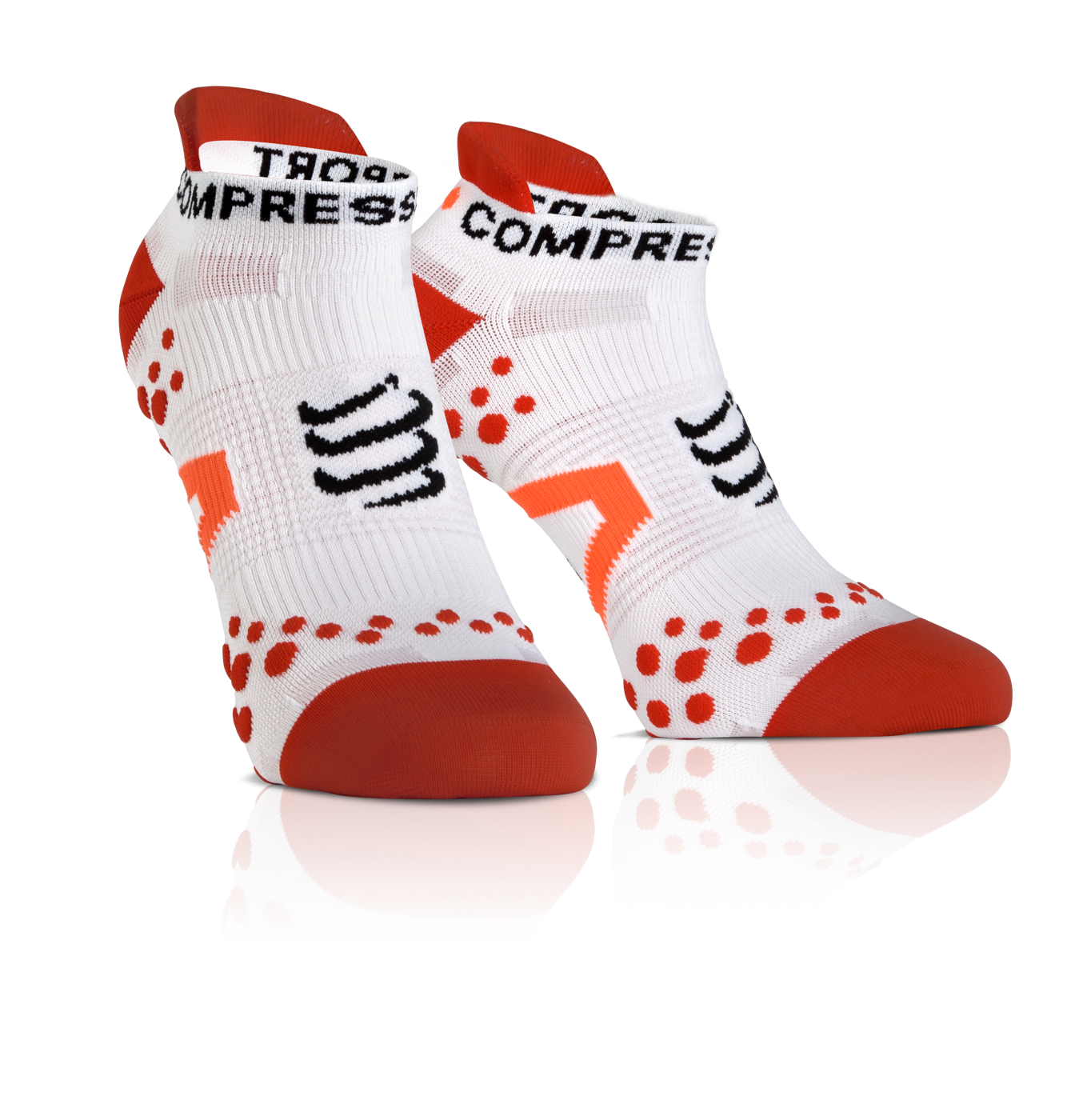 ProRacing Socks V2_1-RUN LOW-White-Red