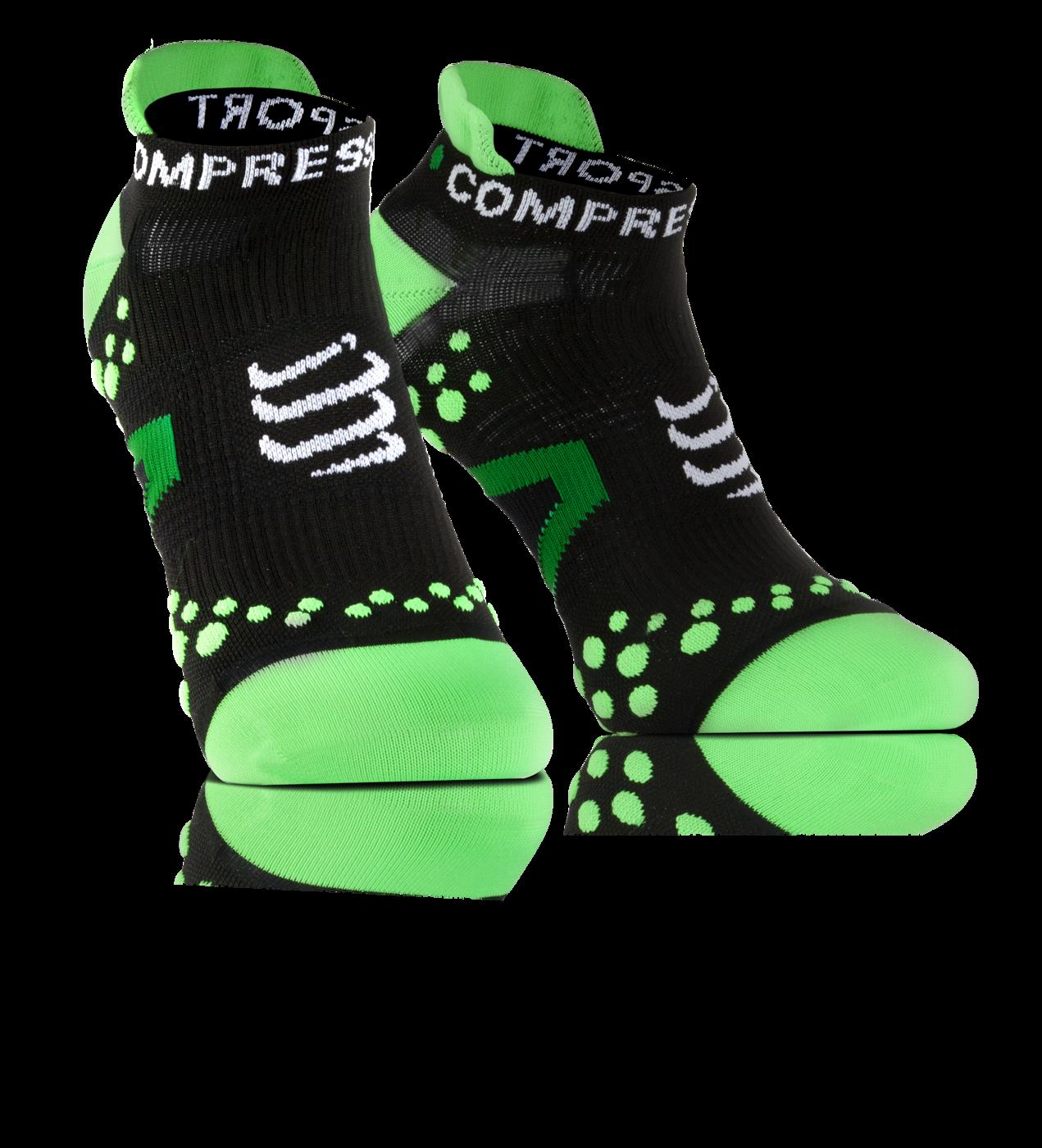 ProRacing Socks V2_1-RUN LOW-Black-Green