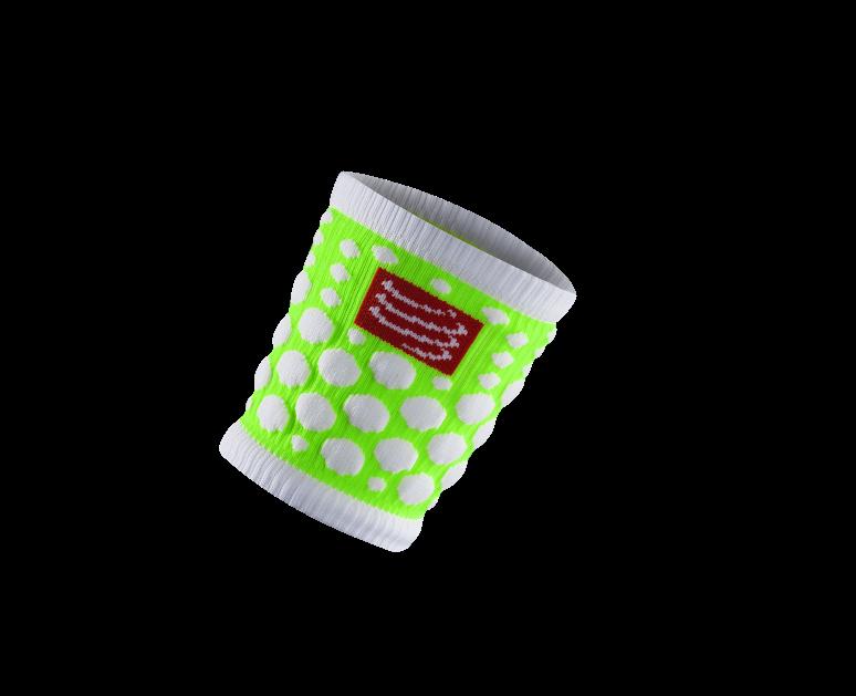 Sweatbands 3D.Dots Fluo Green