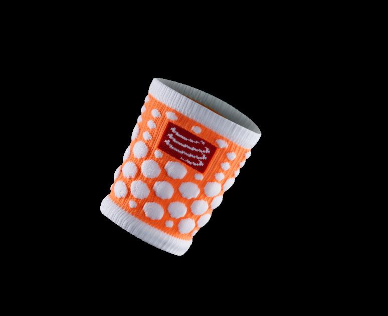 Sweatbands 3D.Dots Fluo Orange