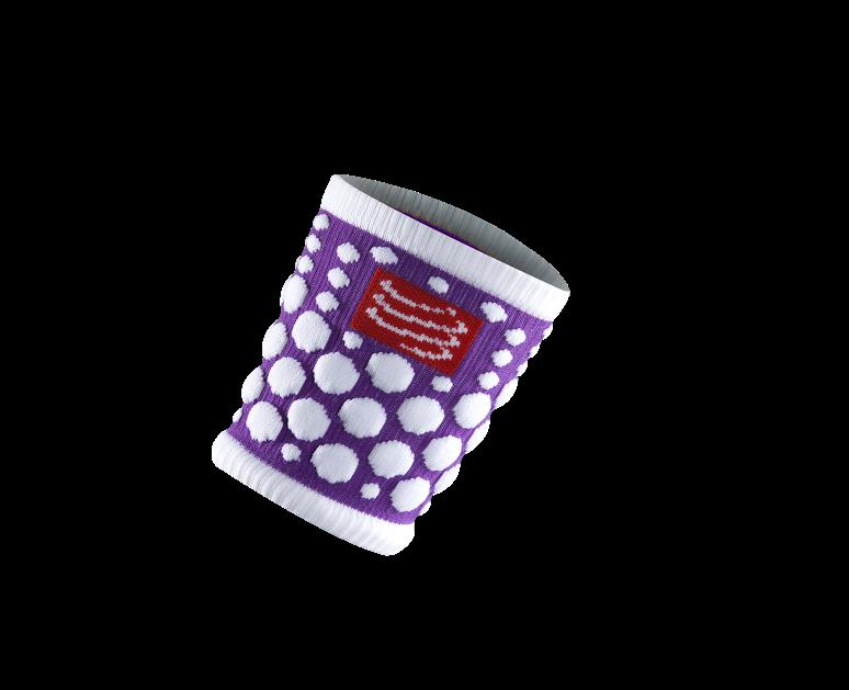 Sweatbands 3D.Dots Fluo Purple