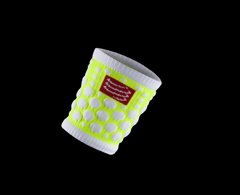 Sweatbands 3D.Dots Fluo Yellow
