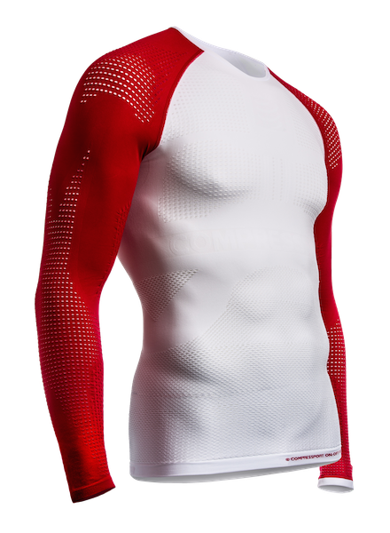 ON-OFF Multisport Shirt - LS - White-Red