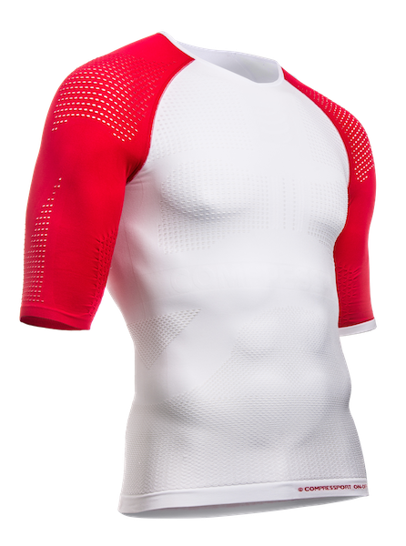 ON-OFF Multisport Shirt - SS - White-Red