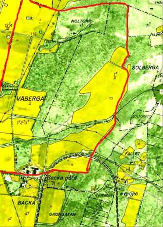 Lantmäteriet Historiska Kartor. Karta 1960 med Väberga bys tidigare gränser inritade av Kent Friman, 2014.