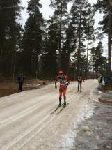 Petter Eliasen och Anders Aukland i Moraparken. Hårda killar. Foto: Lars-Åke Carlzon