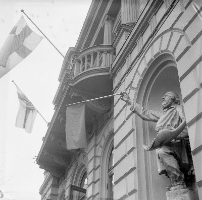 Ockupationen av Gamla studenthuset i Helsingfors skedde också 1968. Bild: Yrjö Lintunen.