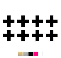 Wall stickers - Stora kryss/plus - Svart