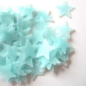 Självlysande stjärnor - Blå