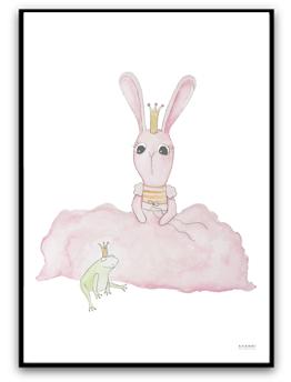 Bunny and prince frog - A4 220g matt fotopapper
