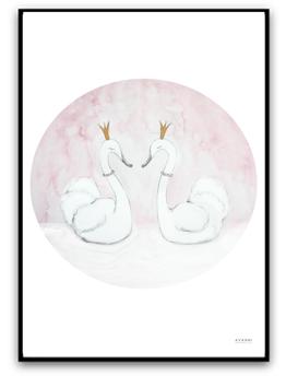 Princess swans - A4 matt fotopapper
