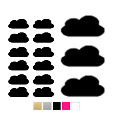 Wall stickers - Stora & små moln - Svart