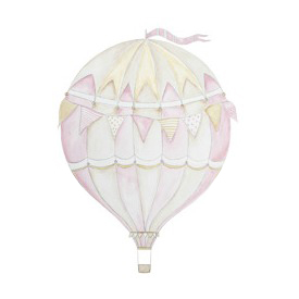 Wall stickers - Pink air balloon - 15cm