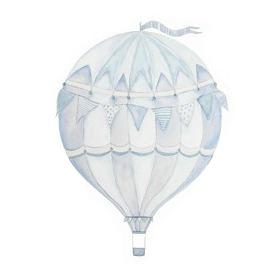 Wall stickers - Blue air balloon - 15cm