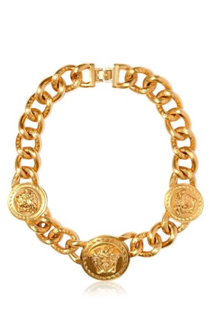 Versace Icon Medusa Brass Necklace