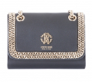 Roberto Cavalli Clutch with Chains and Logo | black