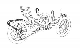 Azub bagagehållare för T-tris - T-tris Standard bagagehållare