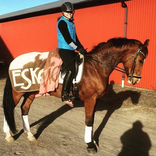 Florens efter ett bra träningspass med Liane