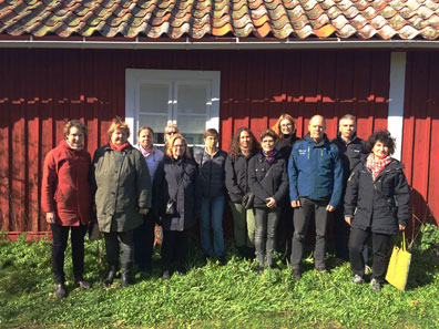 Participants from all SITES stations attended the meeting at Erken. Here outside the Kallviks house, first used as laboratory at Erken. Photo by Nicole Loginger