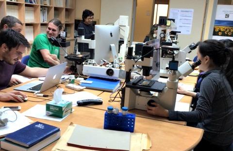 Participants practicing, photo by Yang Yang