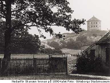 Utsikt från herrgården Olivedal, bilden tillhör Göteborgs Stadsmuseum
