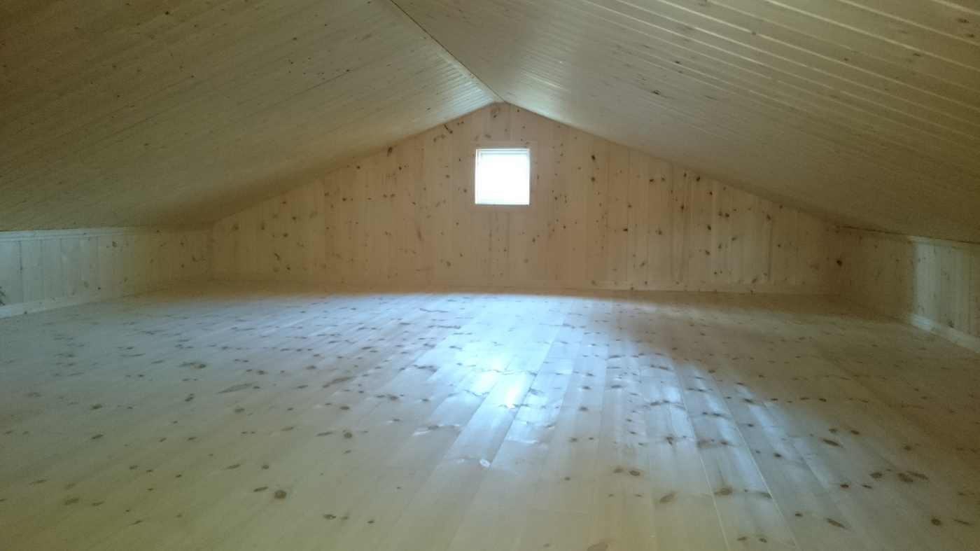Fritidshus 60 kvm + loft interiört loft