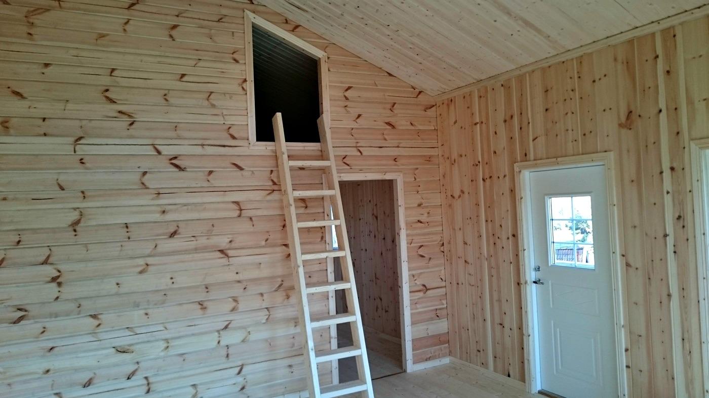Fritidshus 60 kvm + loft interiört