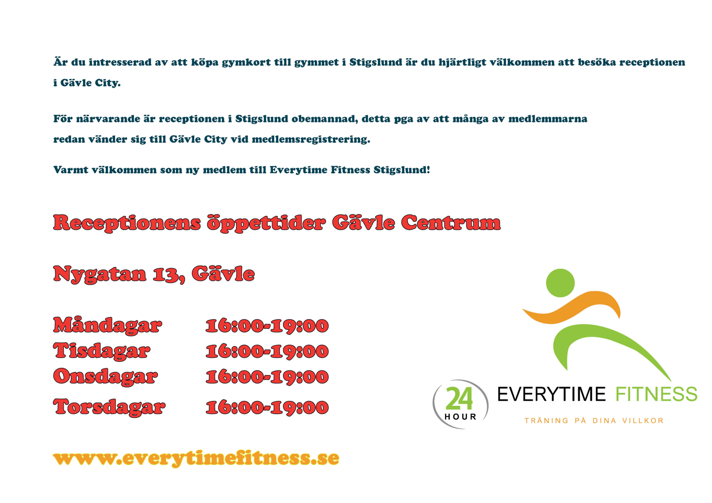 everytime fitness gävle
