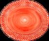 bubbles_plate_oval_35cm_orange_EBOR51B