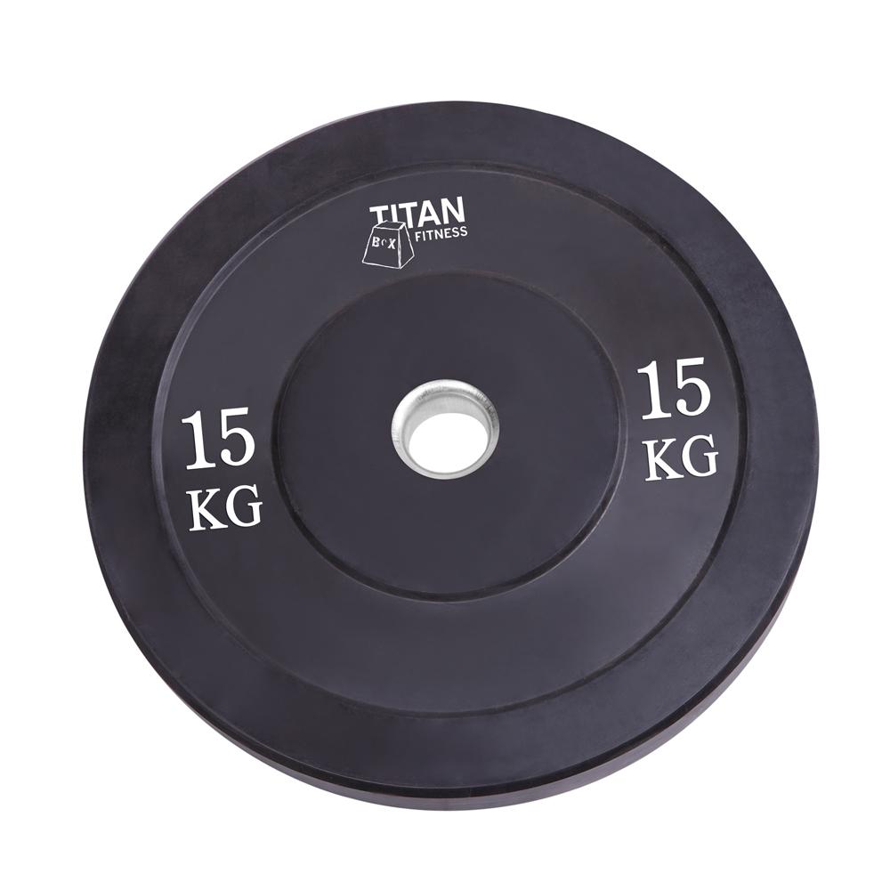 Titan Bumber Plates 15kg_Black_1