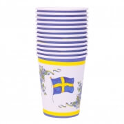 Pappersmuggar Svenska flaggan