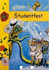 Inbjudningskort till studentmottagningen från Partykungen