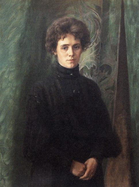 Porträtt av Clara Söderlund 1894, privat ägo