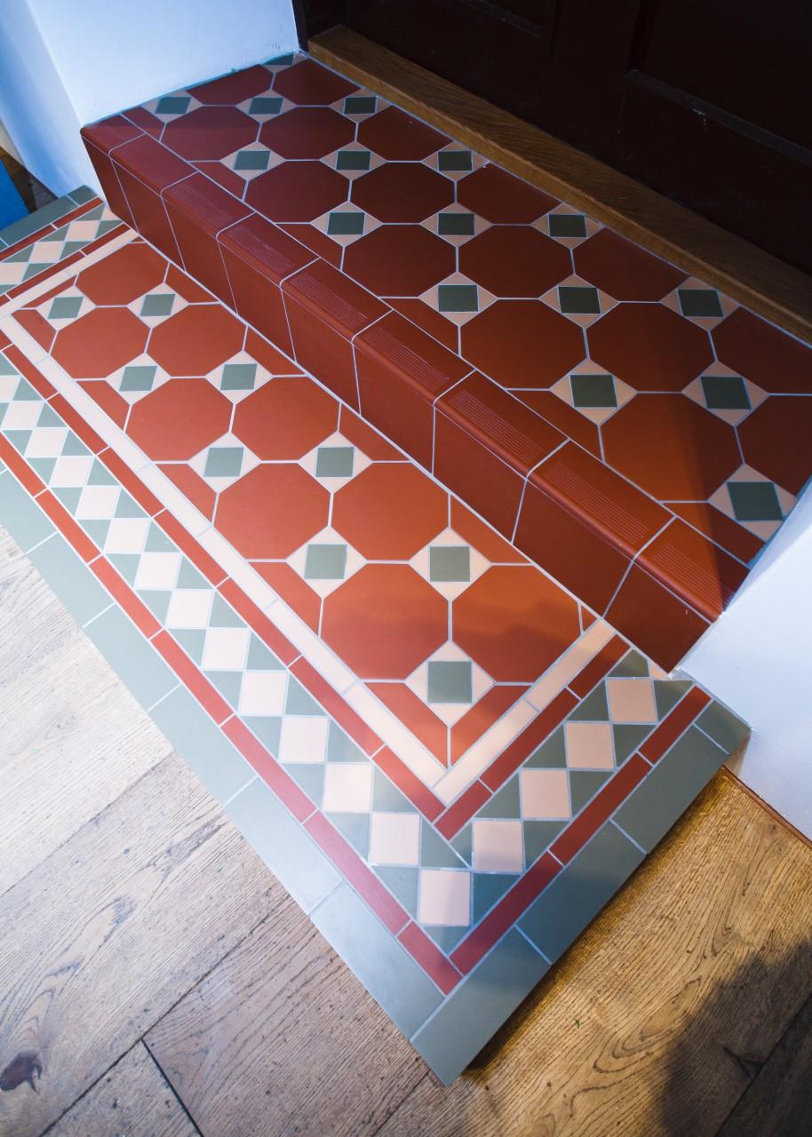 Victorian tiles, viktorianskt klinker, viktorianskt kakel, köks ...