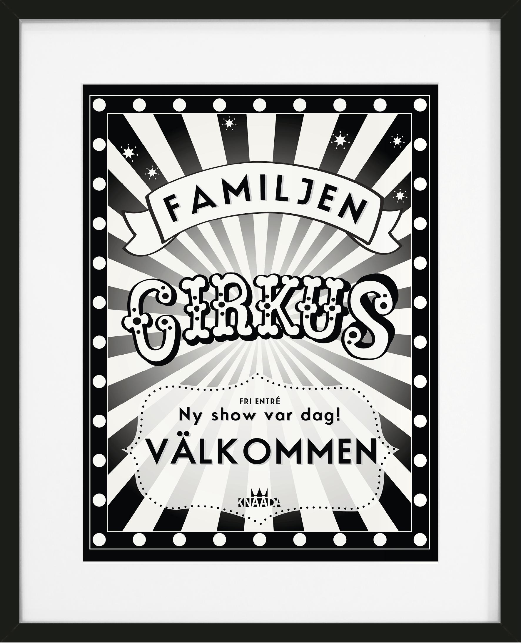 Cirkus Poster Hall Tavla