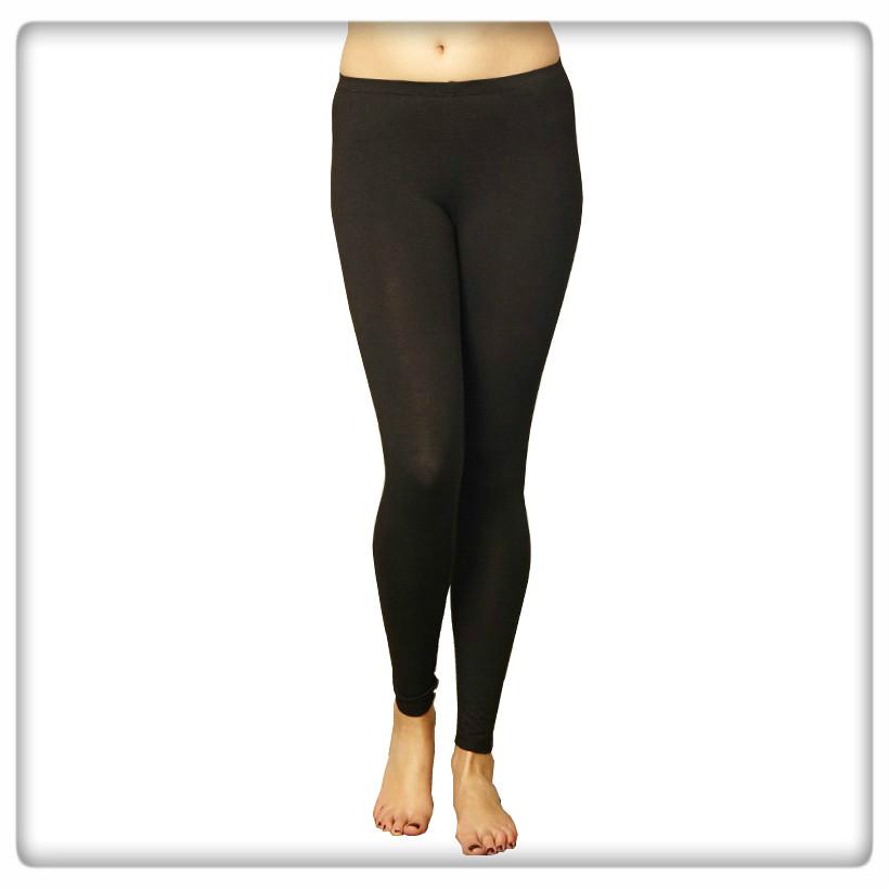 Leggings svart bambu/ekobomull