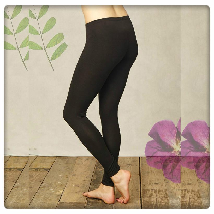 Leggings svart bak fyrk