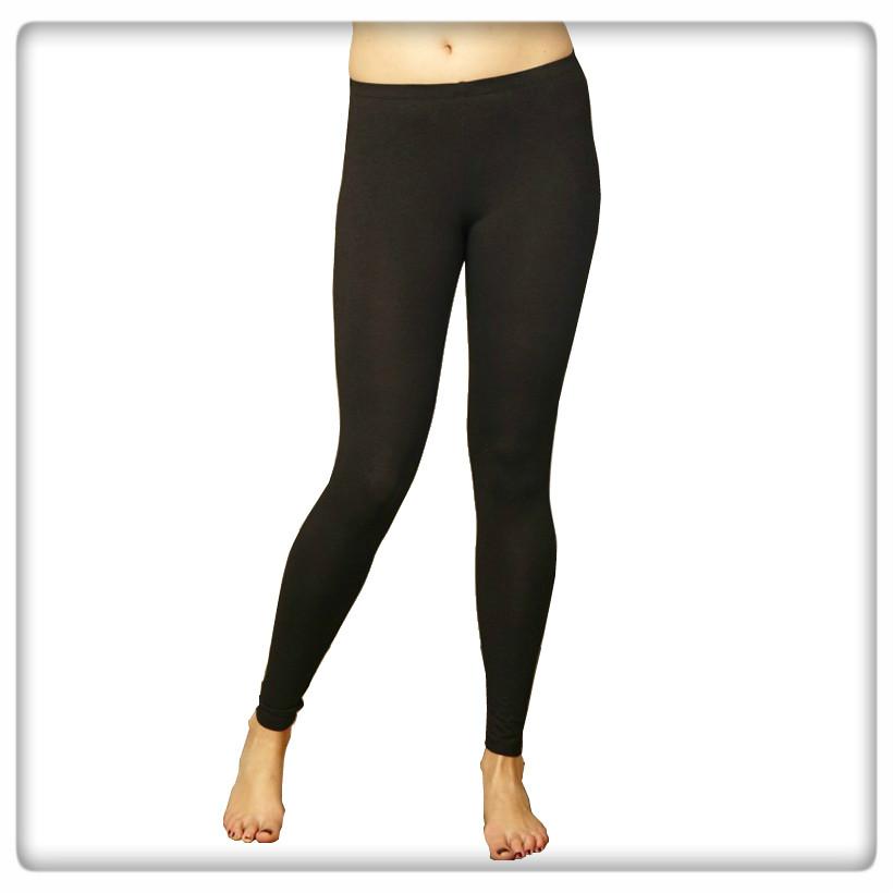 Leggings svart ekobomull/bambu