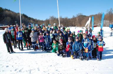 Glada skidåkare i Boxholm!