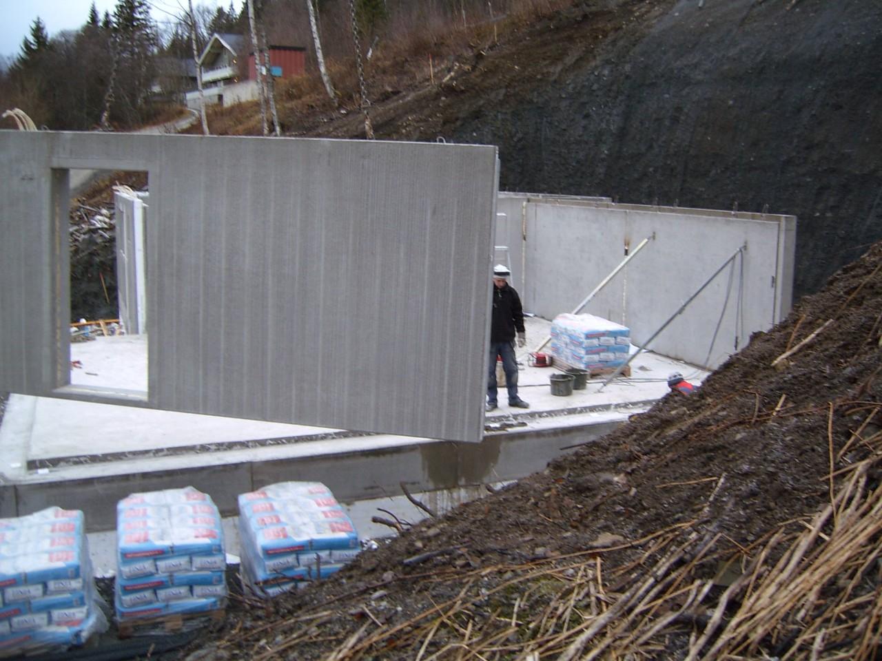 Sandwichvägg betong